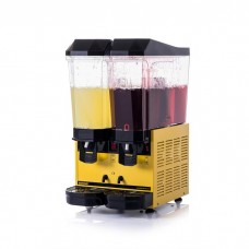 Samixir 2'li Limonata Şerbet Soğutma Makinesi - 2 x 20 litre Sarı Gövde S+S