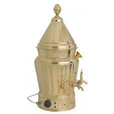 Sahlep Makinesi Motorlu Pirinç Karıştırıcılı Semaver 15 Litre