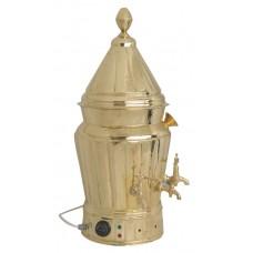 Sahlep Makinesi Motorlu Pirinç Karıştırıcılı Semaver 7,5 Litre