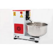 Hamur Yoğurma Makinası - 15 kg - Devirmeli Model Ayarlanabilir Mil - Çıkarılabilir Kazan