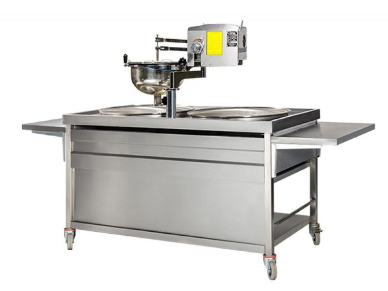 Lokma Pişirme Makinesi Tezgahlı - Çift Lokma Pişirme Kazanı