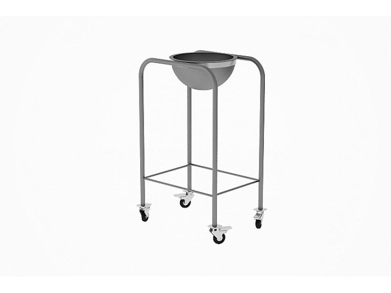 Cerrahi Port Küvet - Paslanmaz Çelik Tek Küvetli Cerrahi Port Küvet (4 Tekerlekli)