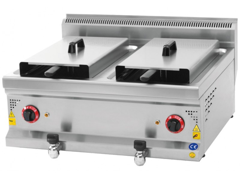 Elektrikli Fritöz Çiftli - Karacasan 700 Serisi Fritöz - 12 + 12 Litre