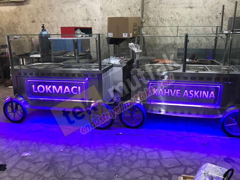 Lokma Tezgahı - Seyyar İzmir Lokma Tezgahı - 7 Litre lokma makinesi