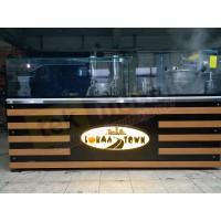Lokma Tezgahı - Çikolata Dolgu Makineli Yeni Model Lokma Tezgahı Tek Parça 240 Cm