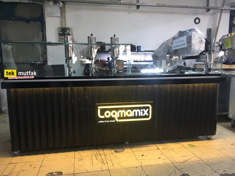 Çikolatalı Lokma Tezgahı - 3 Adet Lokma Dolum Makinesi - Lokma Sunum Tezgahı