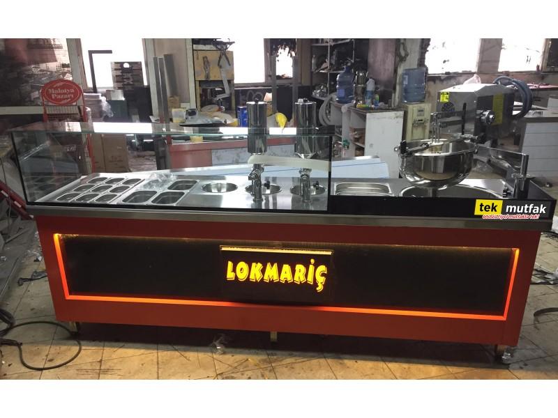 Çikolatalı Lokma Tezgahı - Tek Parça Lokma Tezgahı - 2 Adet Lokma Dolum Makinesi
