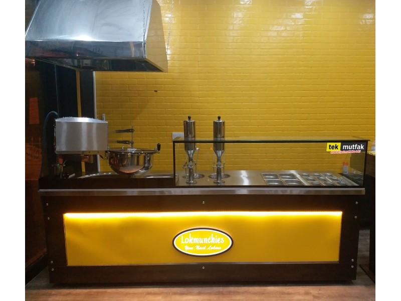 Çikolatalı Lokma Tezgahı - Lokma Dolum Makinesi - Tek Parça Tezgah