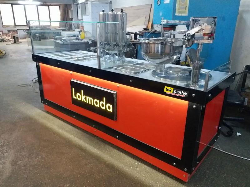 Çikolatalı Lokma Tezgahı - 3'lü Çikolata Dolum Makinesi - Lokma Sunum Tezgahı