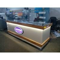 Çikolatalı Lokma Tezgahı - 2 Adet Çikolata Dolum Makinesi -  Tekparça 240 cm