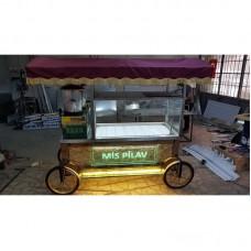 Pilav Arabası - Yeni model GOLD Seyyar Pilav Arabası