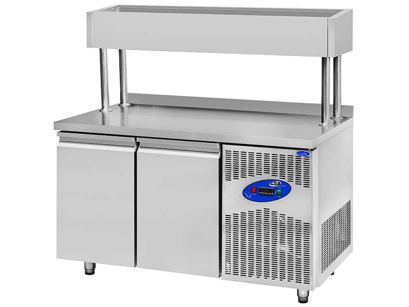 CSA İnox Tezgah Tip Buzdolabı Yükseltilmiş Make Up 632 Litre 4 Kapılı 304 Paslanmaz