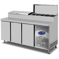 CSA İnox Tezgah Tip Buzdolabı Make Up 474 Litre 3 Kapılı