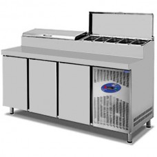 CSA İnox Tezgah Tip  Buzdolabı Make Up 281 Litre 2 Kapılı