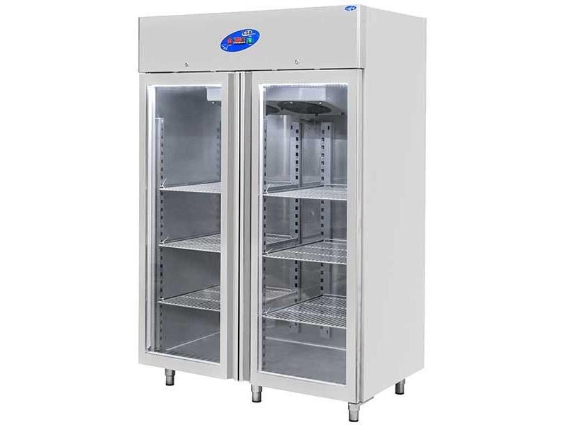 CSA İnox Dikey Buzdolabı - 1400 Litre Camlı 304 Paslanmaz