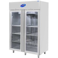 CSA İnox Dikey Tip Buzdolabı - 1200 Litre Camlı 304 Paslanmaz